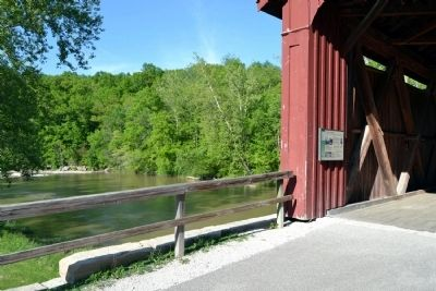 Marker in Cataract Covered Bridge image. Click for full size.