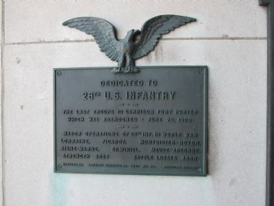 28th U.S. Infantry Marker image. Click for full size.