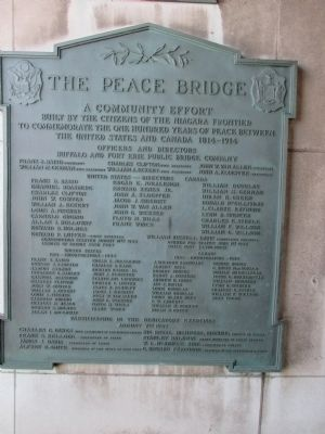 Peace Bridge Dedication Plaque image. Click for full size.