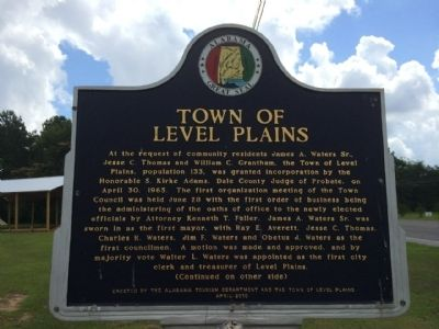 Town of Level Plains Marker image. Click for full size.