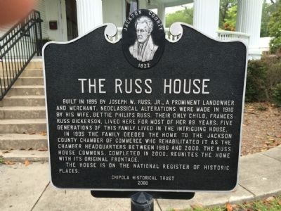 The Russ House Marker image. Click for full size.