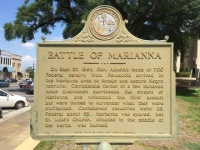 Battle of Marianna Marker image. Click for full size.