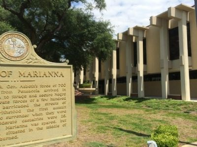 Battle of Marianna Marker & Courthouse image. Click for full size.