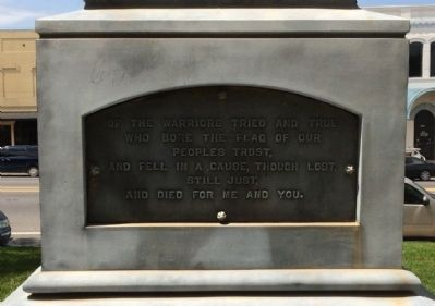 Confederate Soldiers Monument Marker - South Panel image. Click for full size.
