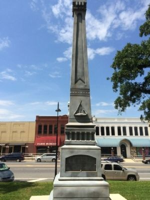 Confederate Soldiers Monument - South image. Click for full size.