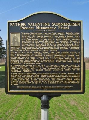 Father Valentine Sommereisen Marker image. Click for full size.