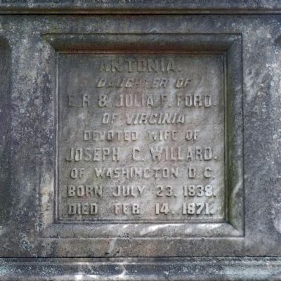 Inscription on Willard Monument image. Click for full size.