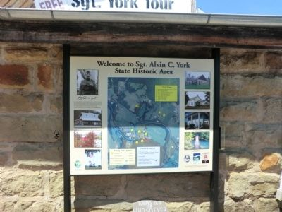 Sgt. Alvin C. York State Historic Area Marker image. Click for full size.