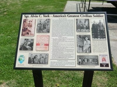 Sgt. Alvin C. York - America's Greatest Civilian Soldier Marker image. Click for full size.