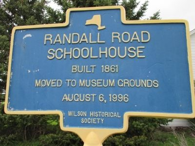 Randall Road Schoolhouse Marker image. Click for full size.