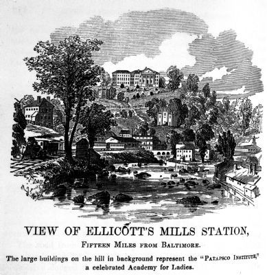 View of Ellicott&#39;s Mills Station<br>Fifteen Miles From Baltimore image. Click for full size.