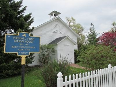 Randall Road Schoolhouse and Marker image. Click for full size.