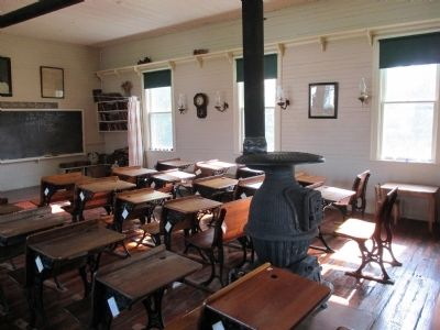 Randall Road Schoolhouse Inside image. Click for full size.