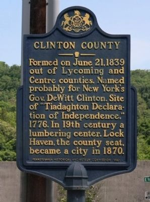 Clinton County Marker (2014) image. Click for full size.