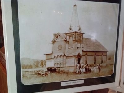 Community Church of Poway circa 1890 image. Click for full size.