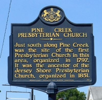 Pine Creek Presbyterian Church Marker image. Click for full size.