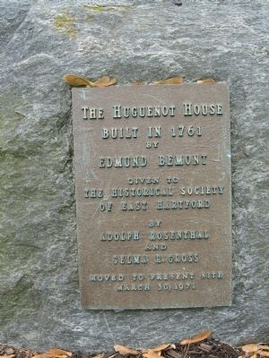 The Huguenot House Marker image. Click for full size.