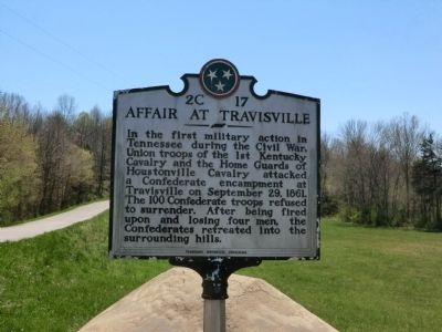 Affair at Travisville Marker image. Click for full size.