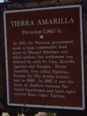 Tierra Amarilla Marker image. Click for full size.