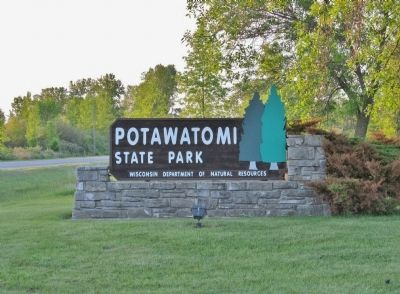 Potawatomi State Park Sign image. Click for full size.