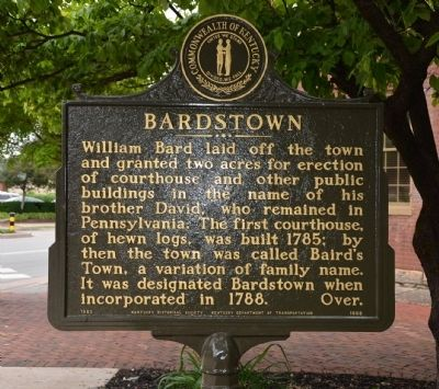 Bardstown Marker image. Click for full size.