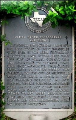Clear Creek Confederate War Camps Marker image. Click for full size.