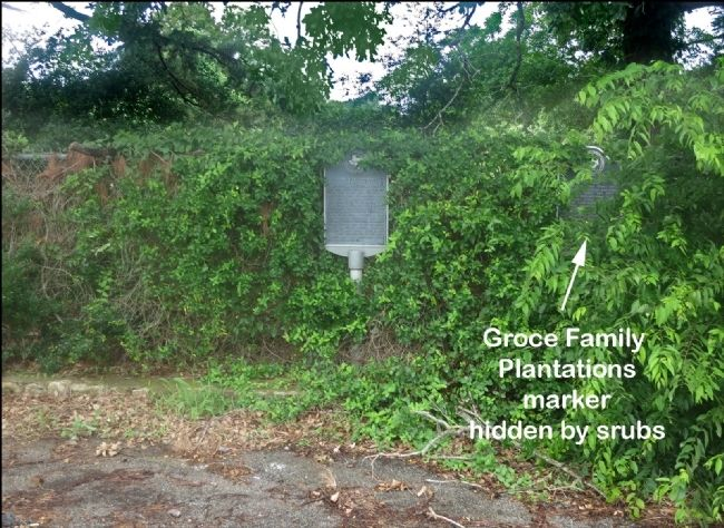 Clear Creek Confederate War Camps Marker & Groce Family Plantations Marker image. Click for full size.