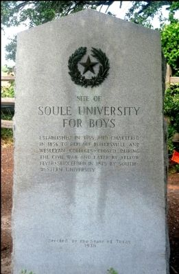 Site of Soule University for Boys Marker image. Click for full size.