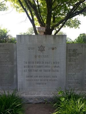 Emek Sholom Holocaust Memorial (center panel) image. Click for full size.