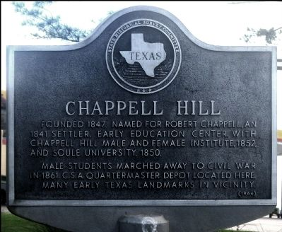 Chappell Hill Marker image. Click for full size.