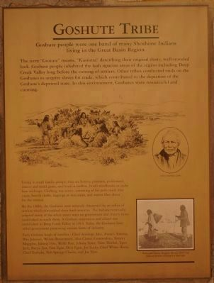 Goshute Tribe Marker image. Click for full size.