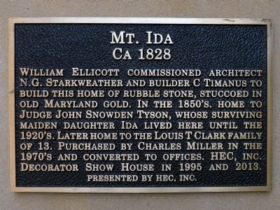 Mount Ida Marker image. Click for full size.