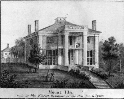 Mount Ida,<br>built by Wm. Ellicott,<br> Residence of the Hon. Jno. S. Tyson image. Click for full size.