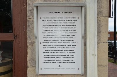 The Talbott Tavern Marker image. Click for full size.