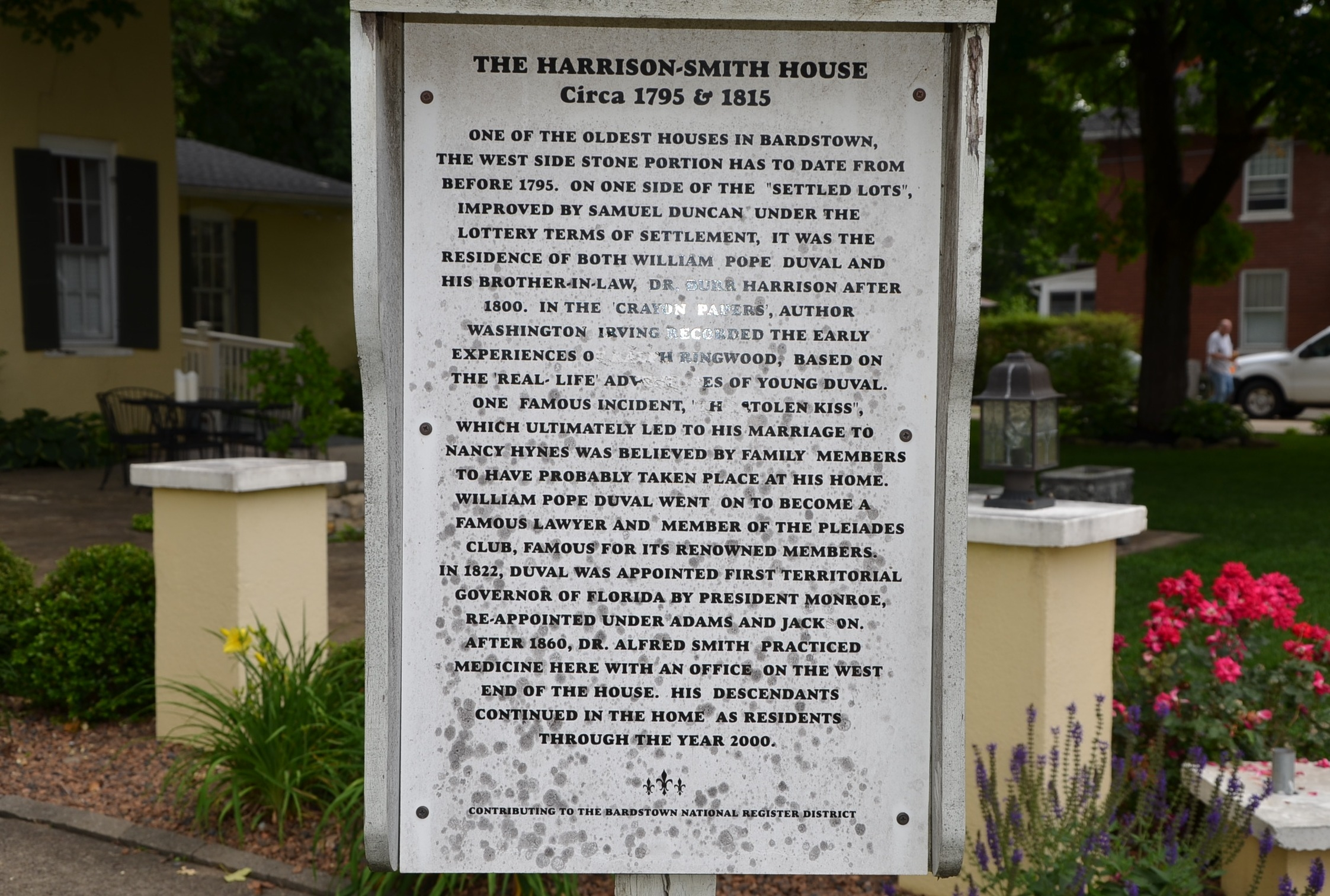 The Harrison-Smith House Marker