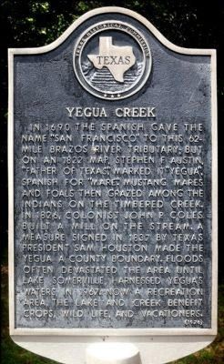 Yegua Creek Marker image. Click for full size.