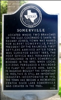 Somerville Marker image. Click for full size.