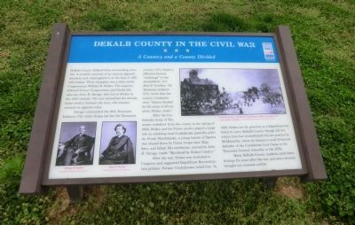 DeKalb County in the Civil War Marker image. Click for full size.