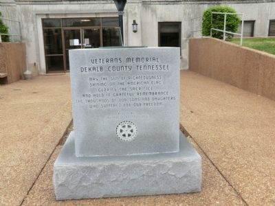 Veterans Memorial DeKalb County Tennessee Marker image. Click for full size.
