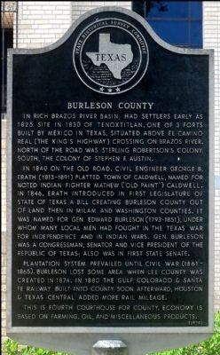 Burleson County Marker image. Click for full size.