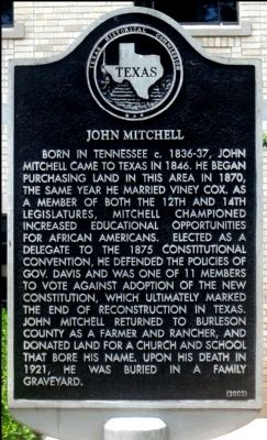 John Mitchell Marker image. Click for full size.