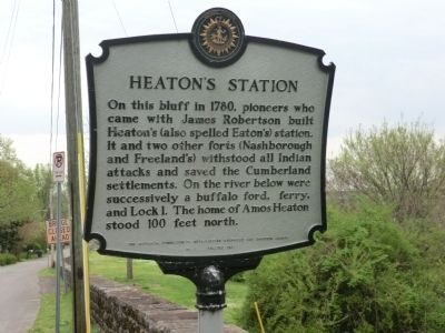 Heaton's Station Marker image. Click for full size.