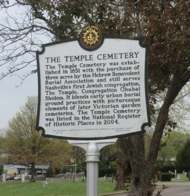 The Temple Cemetery Marker image. Click for full size.