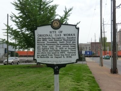 Site of Original Gas Works Marker image. Click for full size.