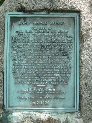 Camp Maple Swamp Marker image. Click for full size.