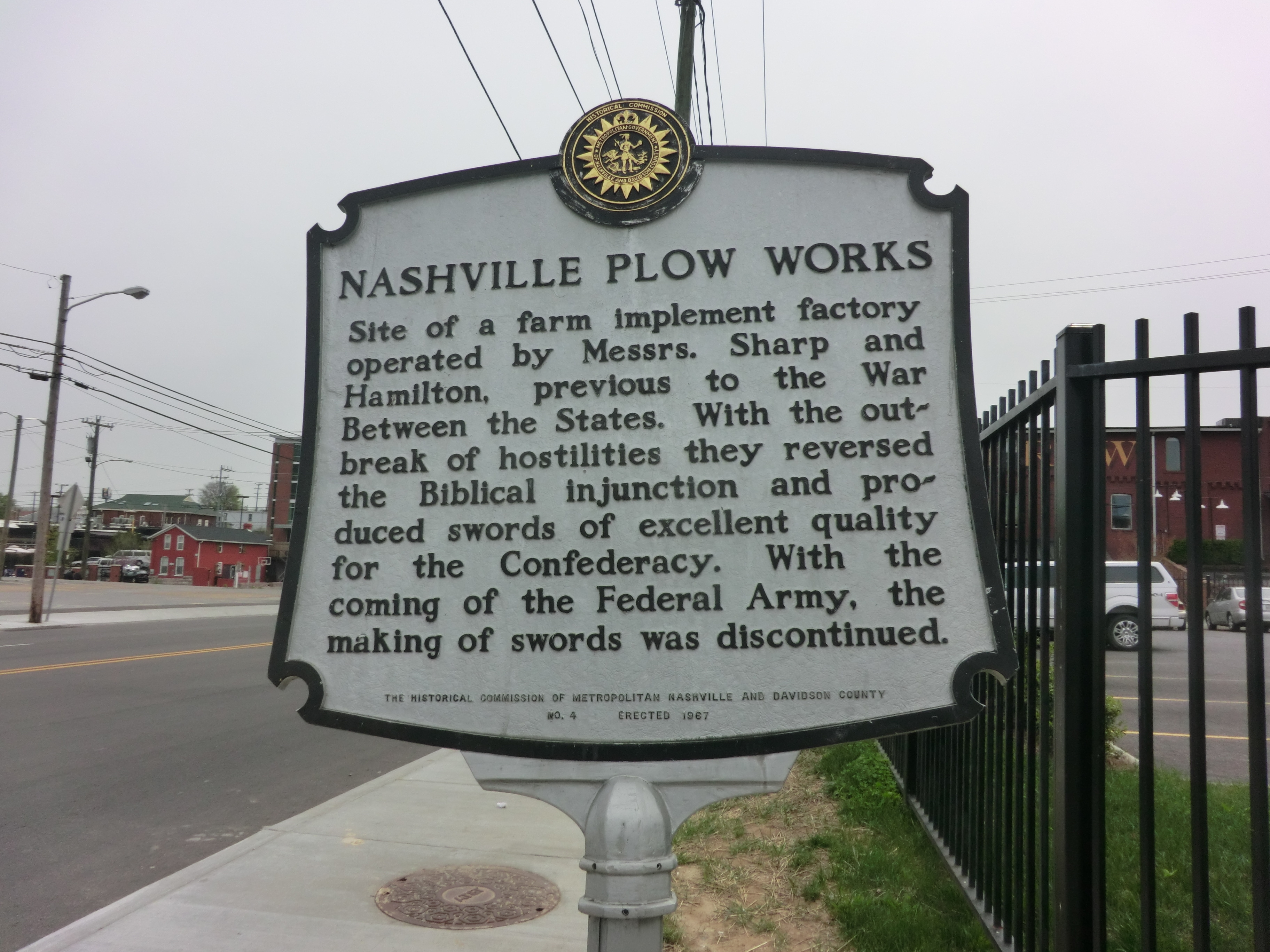 Nashville Plow Works Marker