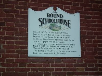 The Round Schoolhouse Marker image. Click for full size.