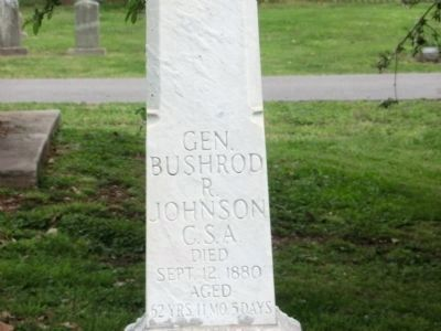 Gen. Bushrod R. Johnson C.S.A-Close up photo image. Click for full size.