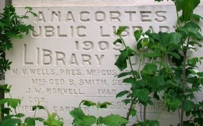 Anacortes Carnegie Library Cornerstone image. Click for full size.