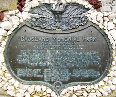 Causland Memorial Park Marker image. Click for full size.
